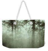Moody Foggy Forest Weekender Tote Bag