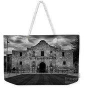 Moody Morning At The Alamo Bw Weekender Tote Bag