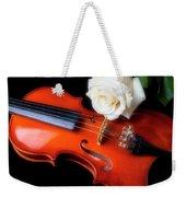 Moody Violin And Rose  Weekender Tote Bag