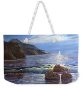 Moon Above The Olympic Peninsula Weekender Tote Bag