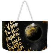 Moon And Back Stars Night Weekender Tote Bag