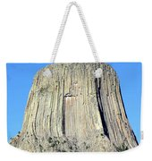 Moon And Devil's Tower National Monument, Wyoming Weekender Tote Bag