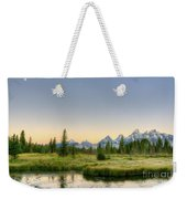 Moon And Mountains Weekender Tote Bag
