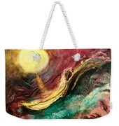 Moon And Ocean Weekender Tote Bag