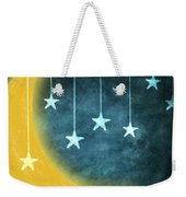 Moon And Stars Weekender Tote Bag by Setsiri Silapasuwanchai
