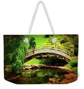 Moon Bridge At Huntington Weekender Tote Bag