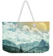 Moon By Day Weekender Tote Bag