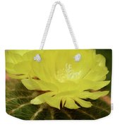 Moon Cactus Blooms Weekender Tote Bag