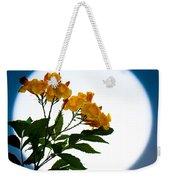 Moon Flowers Weekender Tote Bag