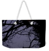 Moon In Inky Blue Sky Weekender Tote Bag