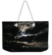 Moon In The Clouds Over Kentucky Lake Weekender Tote Bag
