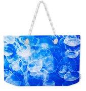 Moon Jellies In Jellyfish Tank In Monterey Aquarium-california Weekender Tote Bag
