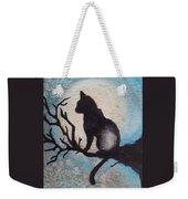Moon Kitty Weekender Tote Bag