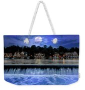 Moon Light - Boathouse Row Philadelphia Weekender Tote Bag
