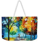 Moon Light Through The Rain Weekender Tote Bag
