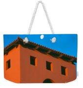 Moon Over Red Adobe Horizontal Weekender Tote Bag