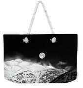 Moon Over The Alps Weekender Tote Bag