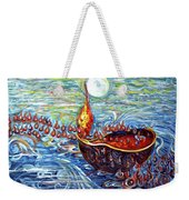 Moon Over The Ocean Weekender Tote Bag