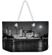 Moon Over Udaipur Bw Weekender Tote Bag