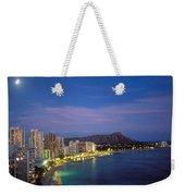 Moon Over Waikiki Weekender Tote Bag