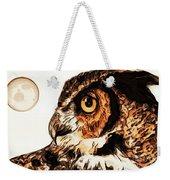Moon Owl Weekender Tote Bag