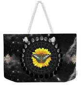 Moon Phase Pendulum With Butterfly  Weekender Tote Bag