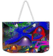 Moon Reflections On Mountains Abstract Graphic Paint Download For Personal N Commercial Projects Fun Weekender Tote Bag by Navin Joshi