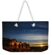 Moon Rise At Pillars Of Rome, Oregon, Usa Weekender Tote Bag
