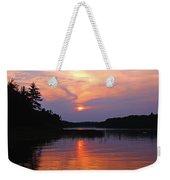 Moon River Silhouette Weekender Tote Bag