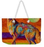 Moon Talk - Coyote Weekender Tote Bag