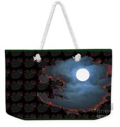 Moon Through Clouds  Photography With Graphic Flavour Created By Navinjoshi At Fineartamerica.co Weekender Tote Bag