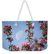 Moon Through The Crabapple Blossoms Weekender Tote Bag