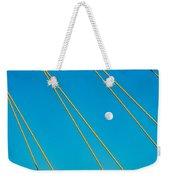 Moon Through The Wires Weekender Tote Bag
