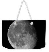 Moon Waning Gibbous Against Black Night Sky High Resolution Image Weekender Tote Bag