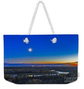 Moon With Antares, Mars And Saturn Weekender Tote Bag