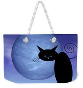 Mooncat's Loneliness Weekender Tote Bag by Issabild -
