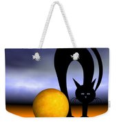 Mooncat's Play With The Fullmoon Weekender Tote Bag by Issabild -
