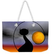 Mooncat's Waiting  Weekender Tote Bag
