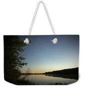 Starlight Over Susan Lake Weekender Tote Bag