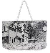 Moonlight Bannack Ghost Town Montana Weekender Tote Bag
