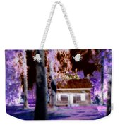 Moonlight Cabin Weekender Tote Bag