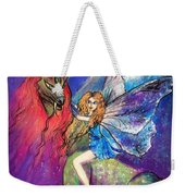 Moonlight Fairy And Her Horned Horse Weekender Tote Bag