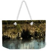 Moonlight On Canadian Lake Weekender Tote Bag