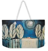 Moonlight On The First Snow Weekender Tote Bag