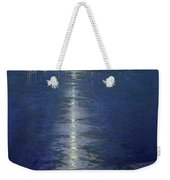 Moonlight On The River Weekender Tote Bag by Lowell Birge Harrison