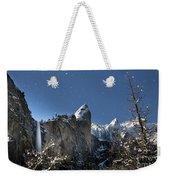 Moonlit Bridalveil  Falls-yosemite Valley Weekender Tote Bag