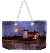 Moonlit Harbor Weekender Tote Bag