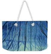 Moonlit In Blue Weekender Tote Bag