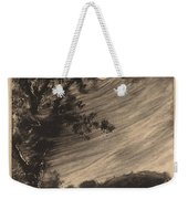 Moonlit Landscape With Tree At The Left Weekender Tote Bag