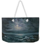 Moonlit Seascape Weekender Tote Bag by Katalin Luczay